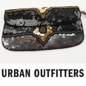 Ecote Urban Outfitters Sequin Clutch Wristlet